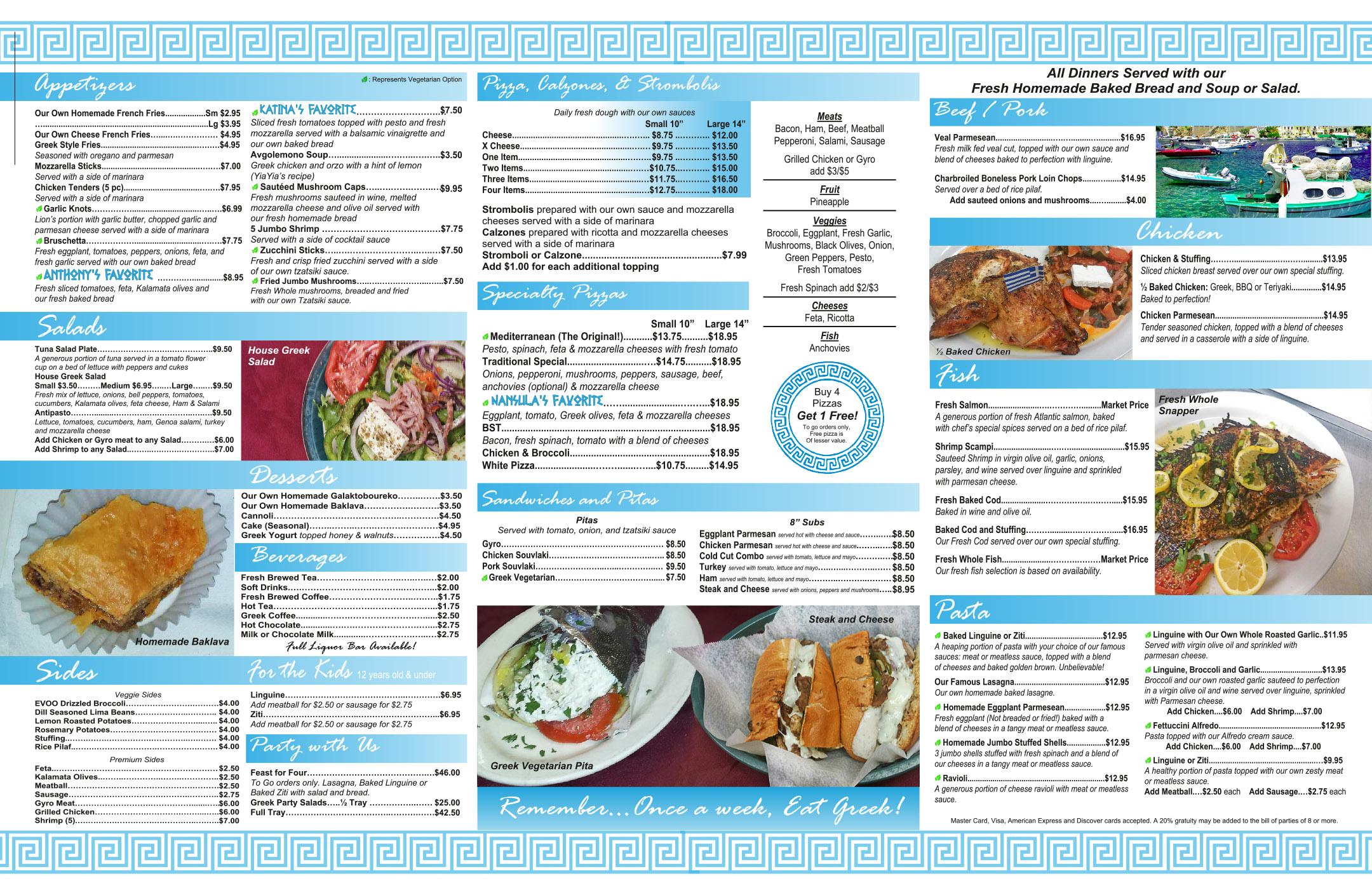 Zorba takeout menu 12-6-18